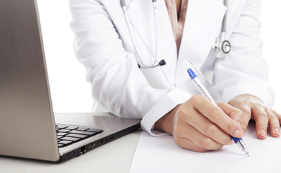 http://www.dreamstime.com/stock-photography-writing-medical-report-image25054332
