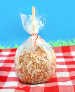 Packaged caramel apple