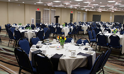 Hotel Marshfield banquet room